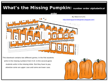What is missing? Pumpkins