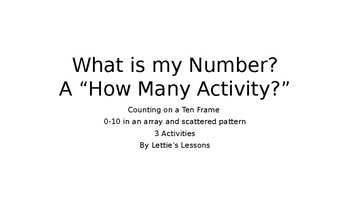 How many? What is my Number? 0 - 10 Counting Counters On a Ten Frame