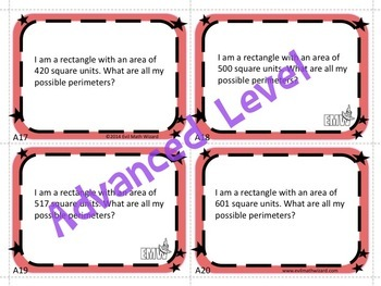 What is my Perimeter Task Cards - Thinking & Problem Solving Required