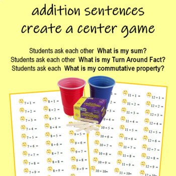 Addition  Facts to 20  Fluency  stickers (address labels)