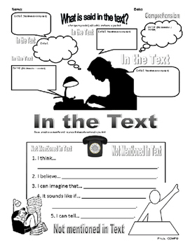 "Reading Comprehension-""What Is Said In The Text?"""