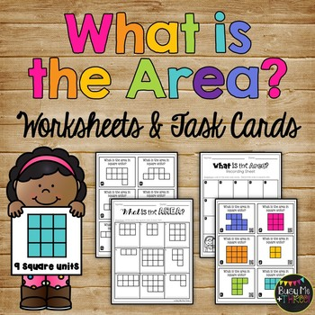 Area Worksheets And Task Cards Square Units Tpt