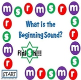 What is the Beginning Sound? Game Board #1 - Letters R, M, and S
