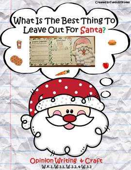 What is the Best Thing to Leave Out for Santa? Christmas Opinion Writing
