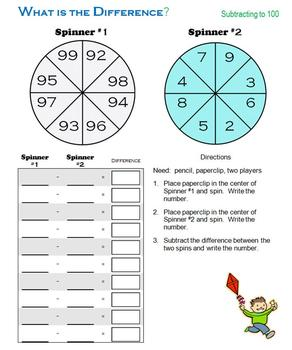 What is the Difference? Subtracting with a Spinner