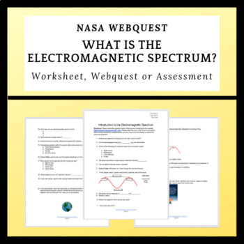 What is the Electromagnetic Spectrum? Basic Worksheet, Review Sheet or  Webquest