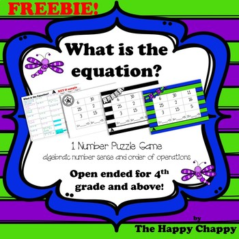What is the Equation Freebie 1 Number Sense Game