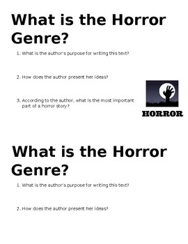 What is the Horror Genre? Mini-Quiz