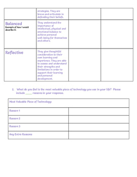 What is the IB Learner Profile? - Bell Ringer, Google Docs Activity