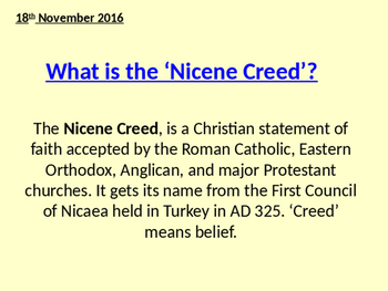 What is the Nicene Creed Lesson