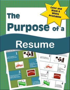 What is the Purpose of a Resume Printable Handout