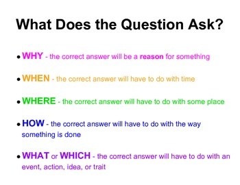 What is the Question Asking?