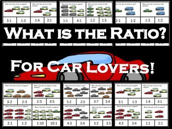What is the Ratio? TASK CARDS FOR CAR LOVERS!!!