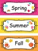What is the Season and the 4 Seasons Labels.