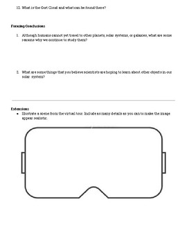 What is the Solar System Google Expedition Exploration Sheet