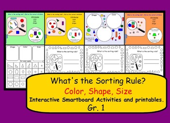 What is the Sorting Rule?  Interactive Smartboard Activiti