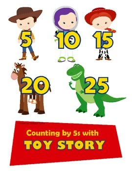 Counting by 5s with Toy Story