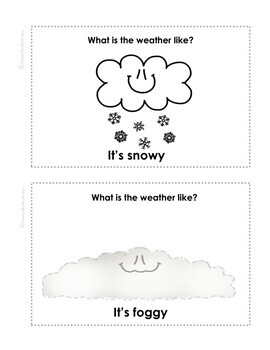 What is the Weather Like. Mini Book English