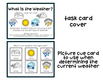 What is the Weather? Visual Task Cards (Special Education)
