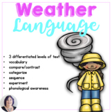 The Weather Informational Text for Special Education Speec