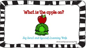 What is the apple on?