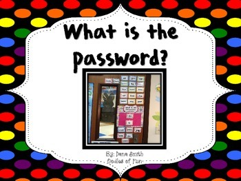 What is the password?