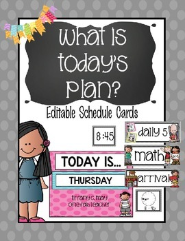 What is the plan today? Editable Schedule Cards