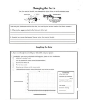 What is the Relationship Between Force and Motion? Scaffold Worksheet