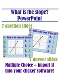 What is the slope? Multiple Choice PowerPoint