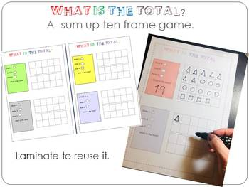 What is the total? A sum up ten frame game.