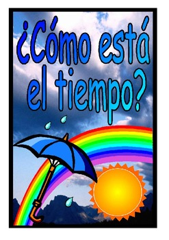 Weather Words and Vocabulary Posters in Spanish