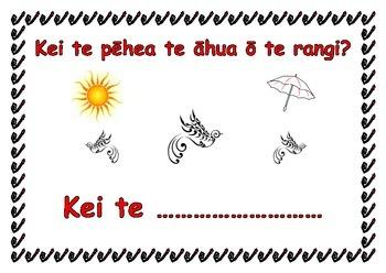 What is the weather like? In Te Reo Maori chart