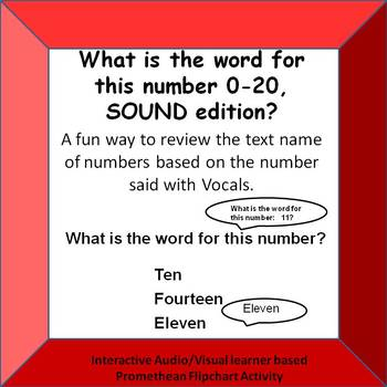 What is the word for this number? 0-20 VOCAL PROMTS ONLY