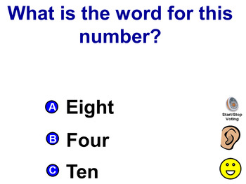 What is the word for this number? 0-20 VOCAL PROMPTS Promethean Board Activity