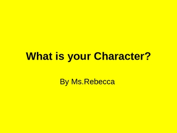 What is your Character for Visual Learners