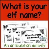 What is your elf name? (A festive, no-prep articulation activity)