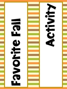 What is your favorite Fall activity? (graph activity)