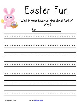 Persuassive Writing about Easter