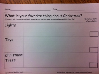 What is your favorite thing about Christmas?