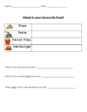 What is your favourite food? - Restaurant Inquiry