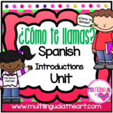 What is your name? ¿Cómo te llamas Spanish activity set
