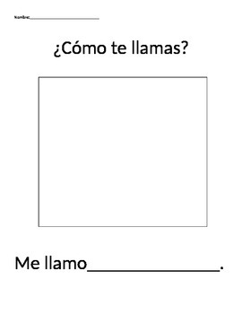 What is your name?- In spanish