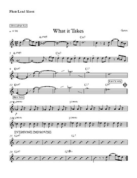 What it Takes - Lead sheet and Parts