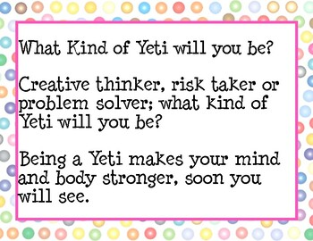 What kind of Yeti will you be?
