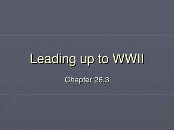 What led to WWII?