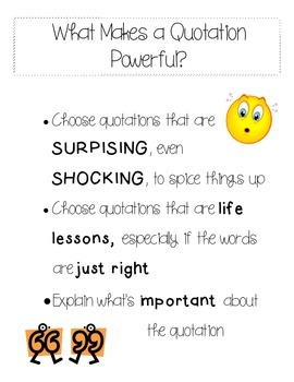 What makes a Quotation Powerful?
