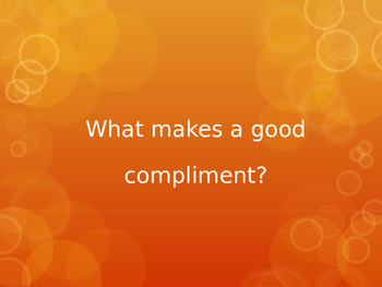 What makes a good compliment?