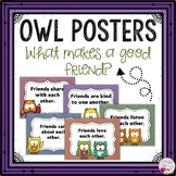 What makes a good friend?-Owl themed