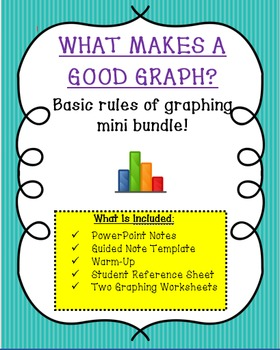 What Makes A Good Graph?  Basic Graphing Rules & Practice Mini Bundle