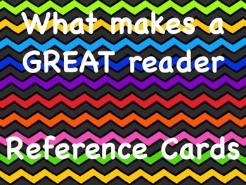 What makes a great reader - reference cards